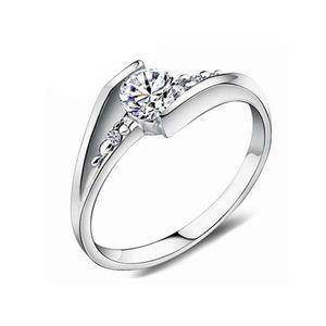 Crystal inlay engagement ring